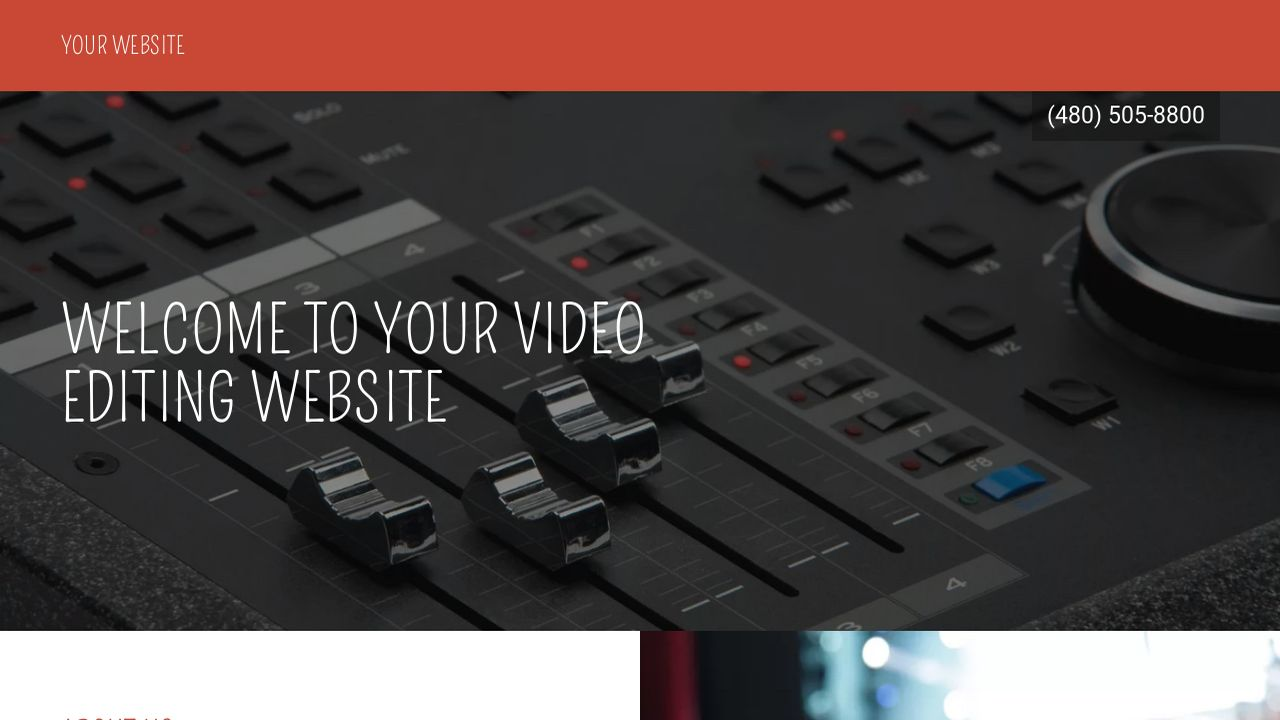 Video Editing Website: Example 10
