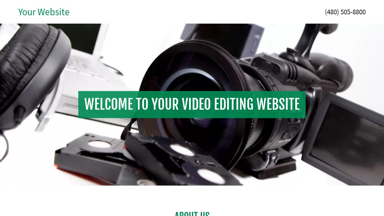 Video Editing Website: Example 13