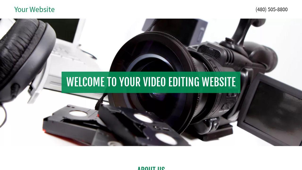 Video Editing Website Templates | GoDaddy