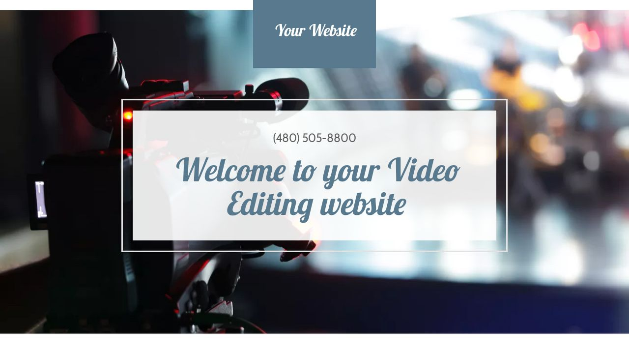 Video Editing Website: Example 14