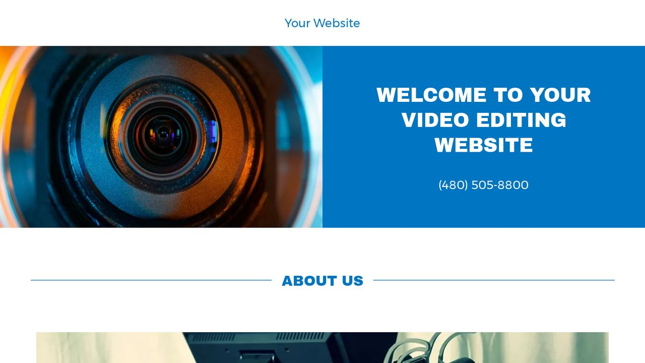 Video Editing Website: Example 2
