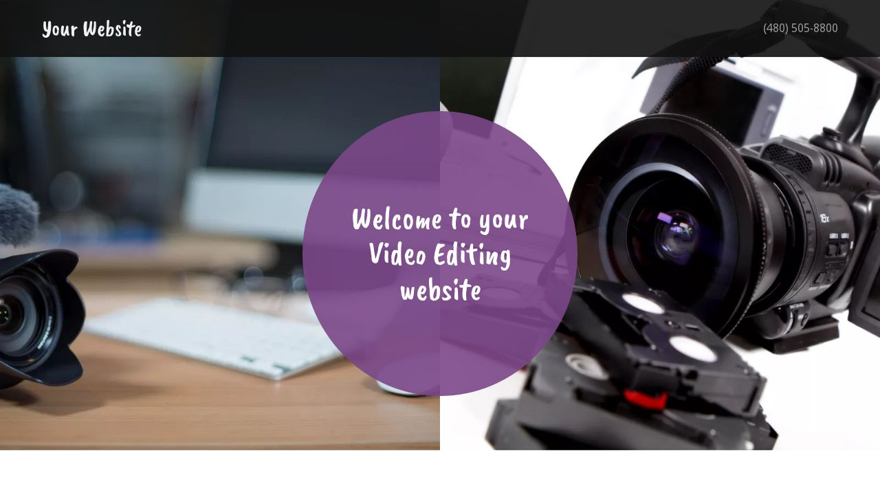 Video Editing Website: Example 8