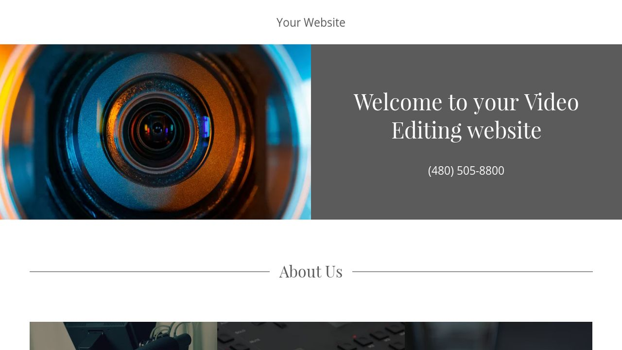 Video Editing Website: Example 9