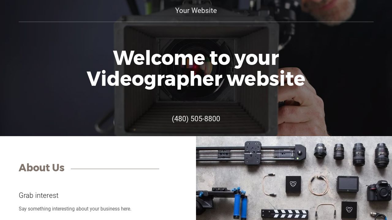 Videographer Website Templates | GoDaddy