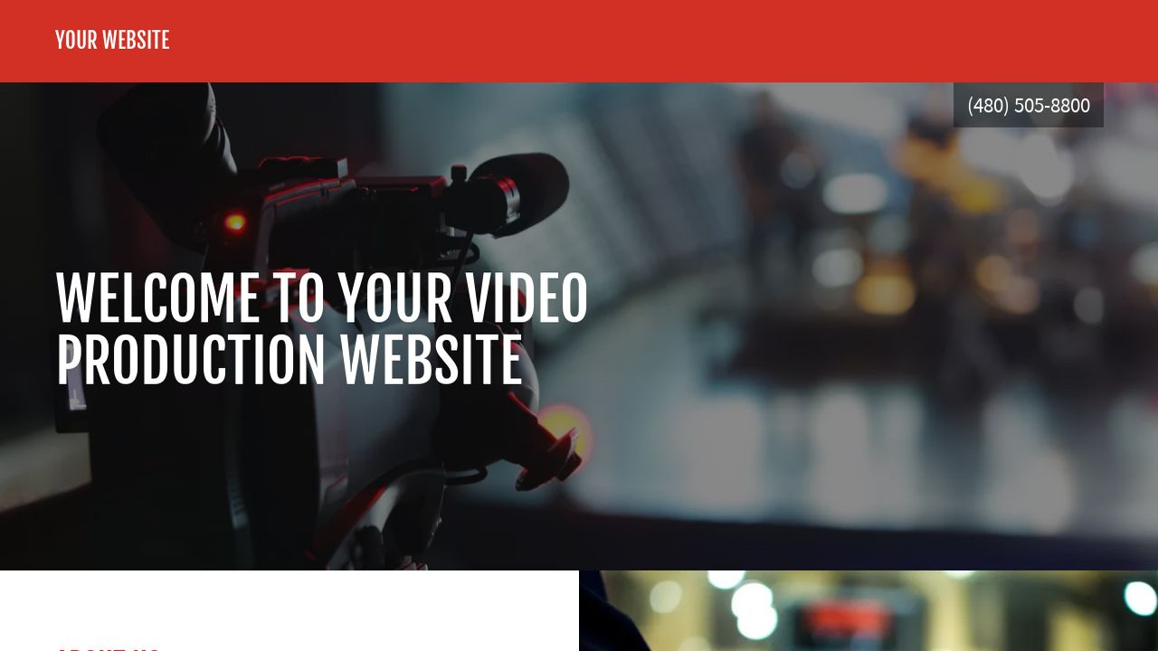 Video Production Website: Example 1