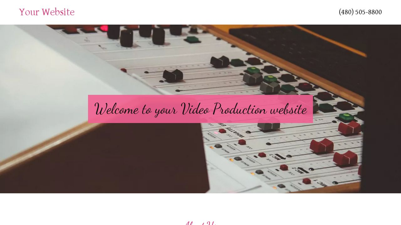 Video Production Website: Example 13