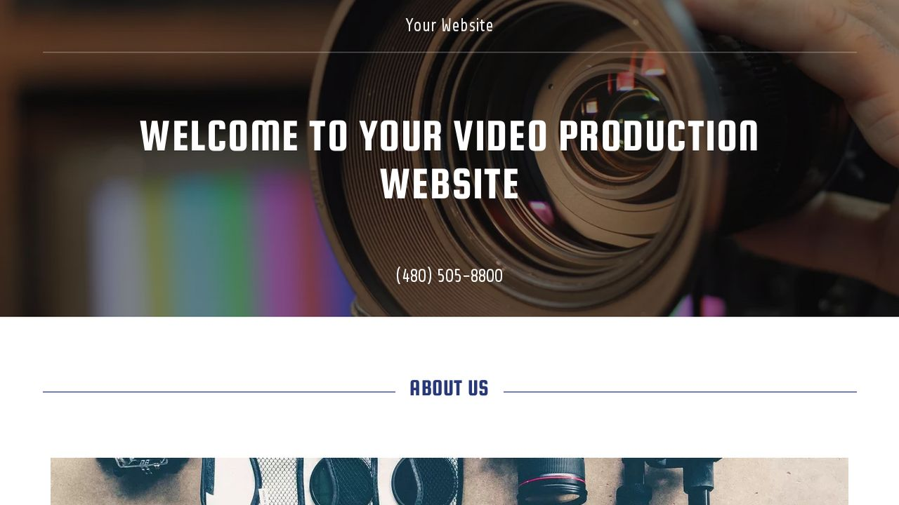 Video Production Website Templates | GoDaddy