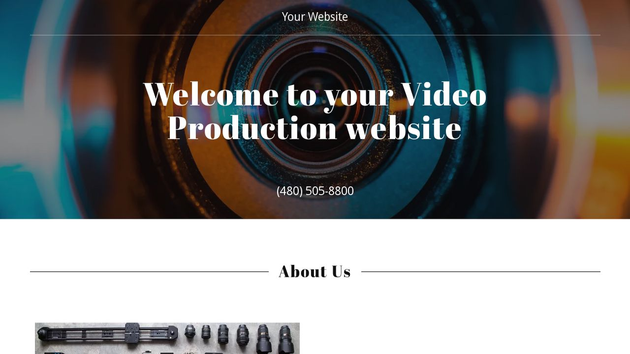 Video Production Website: Example 9