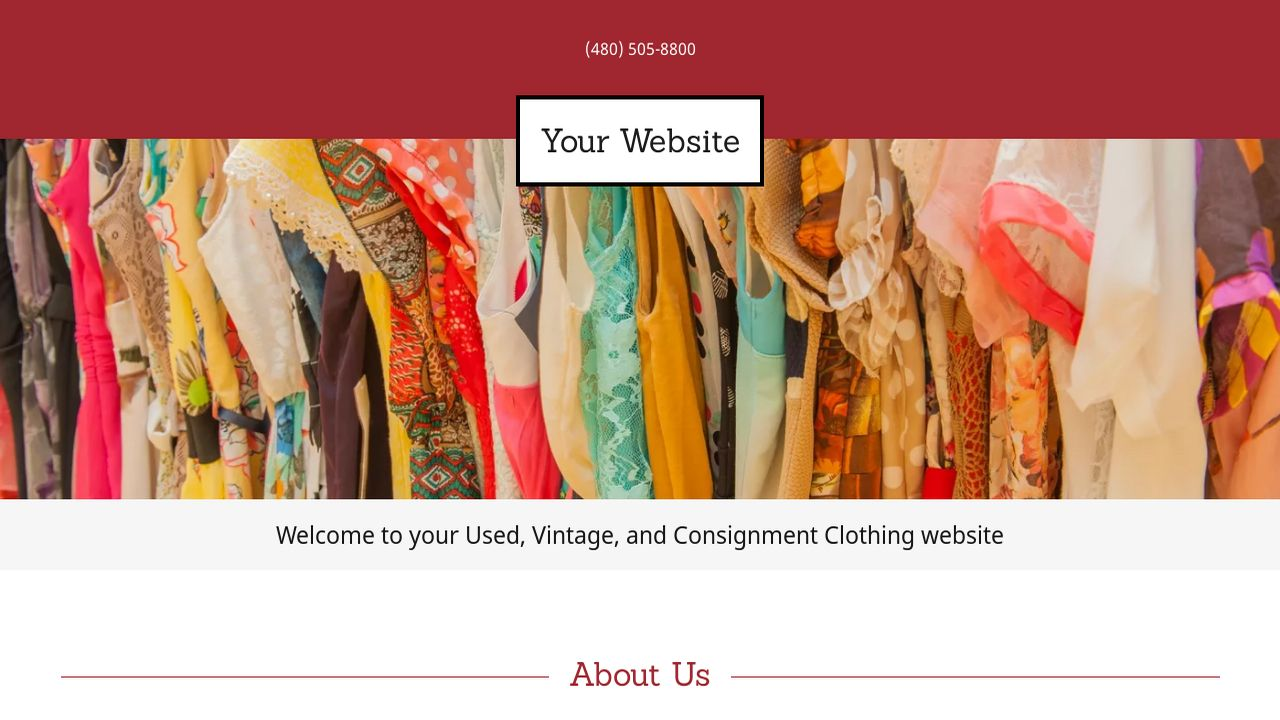 exle 2 used vintage and consignment clothing website
