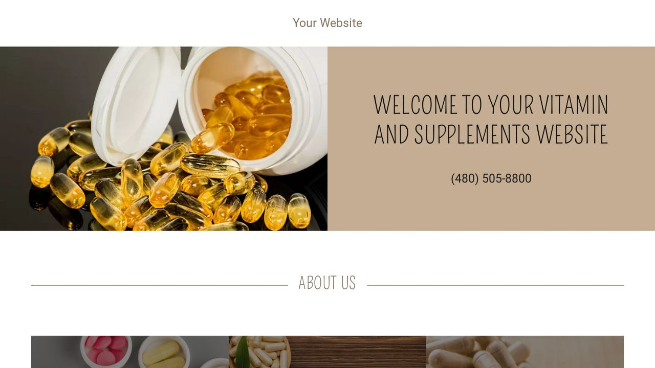 Vitamin And Supplements Website Templates Godaddy