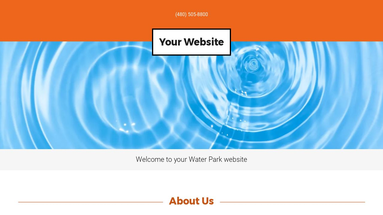 Water park website templates godaddy water park example 1 pronofoot35fo Image collections