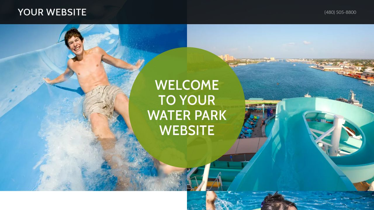 Water park website templates godaddy water park example 10 pronofoot35fo Image collections