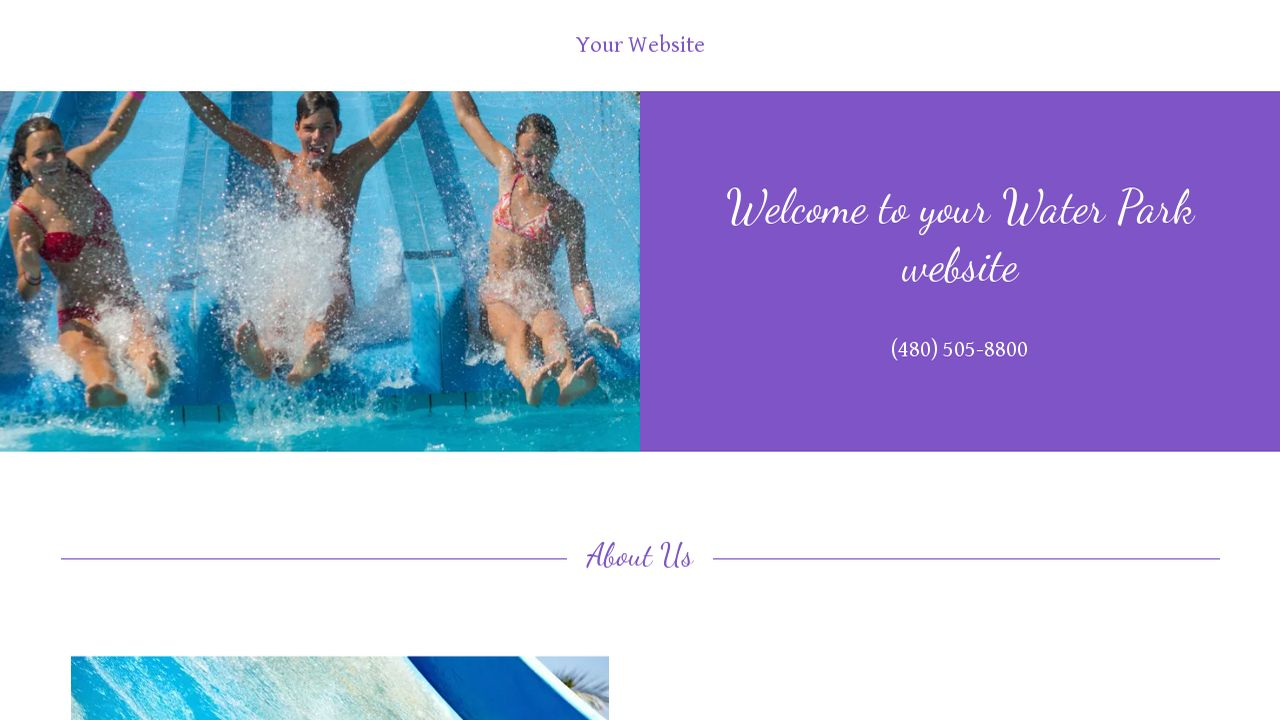 Water park website templates godaddy water park example 11 maxwellsz