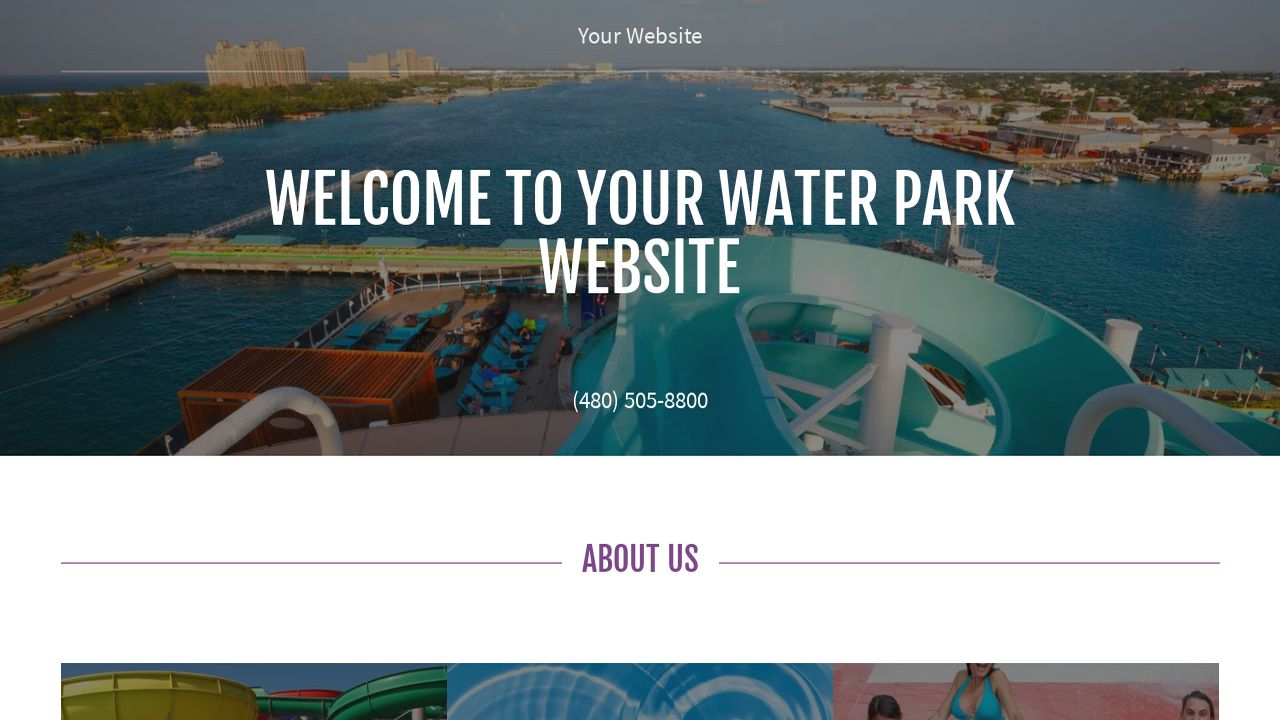 Water park website templates godaddy water park example 14 pronofoot35fo Image collections