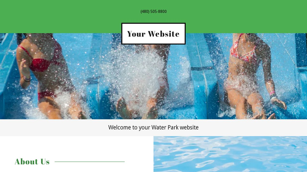 Water park website templates godaddy water park example 15 pronofoot35fo Image collections