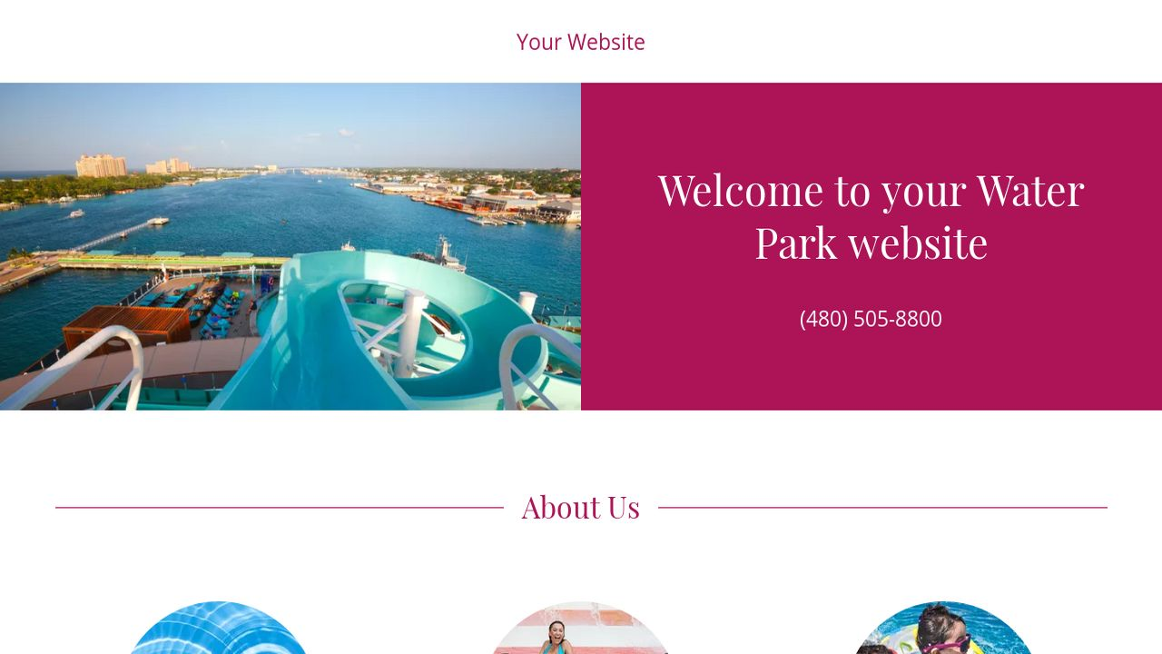 Water park website templates godaddy water park example 18 pronofoot35fo Image collections