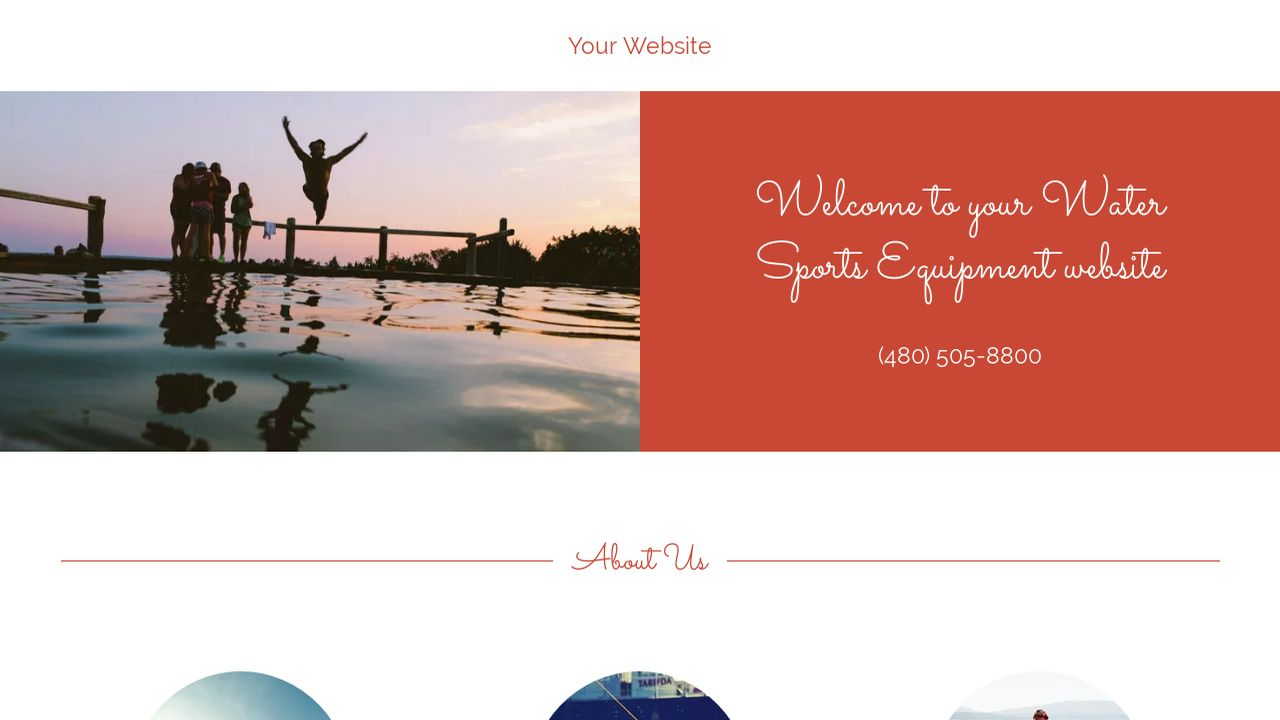 example 18 water sports equipment website template godaddy. Black Bedroom Furniture Sets. Home Design Ideas