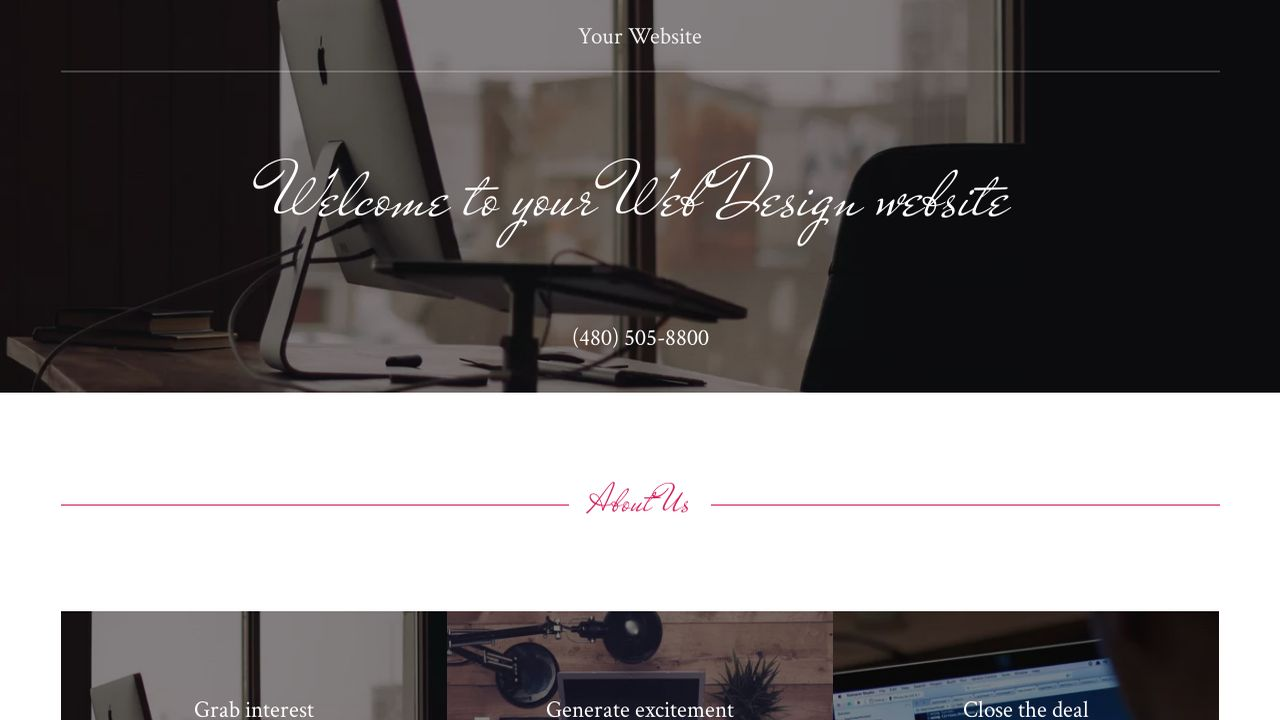 Web Design Website: Example 11