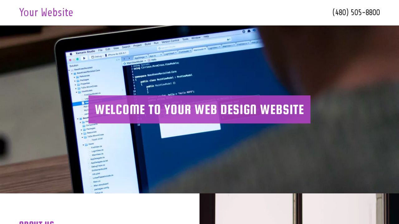 Web Design Website: Example 17
