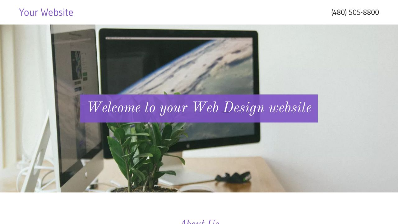 Web Design Website: Example 3