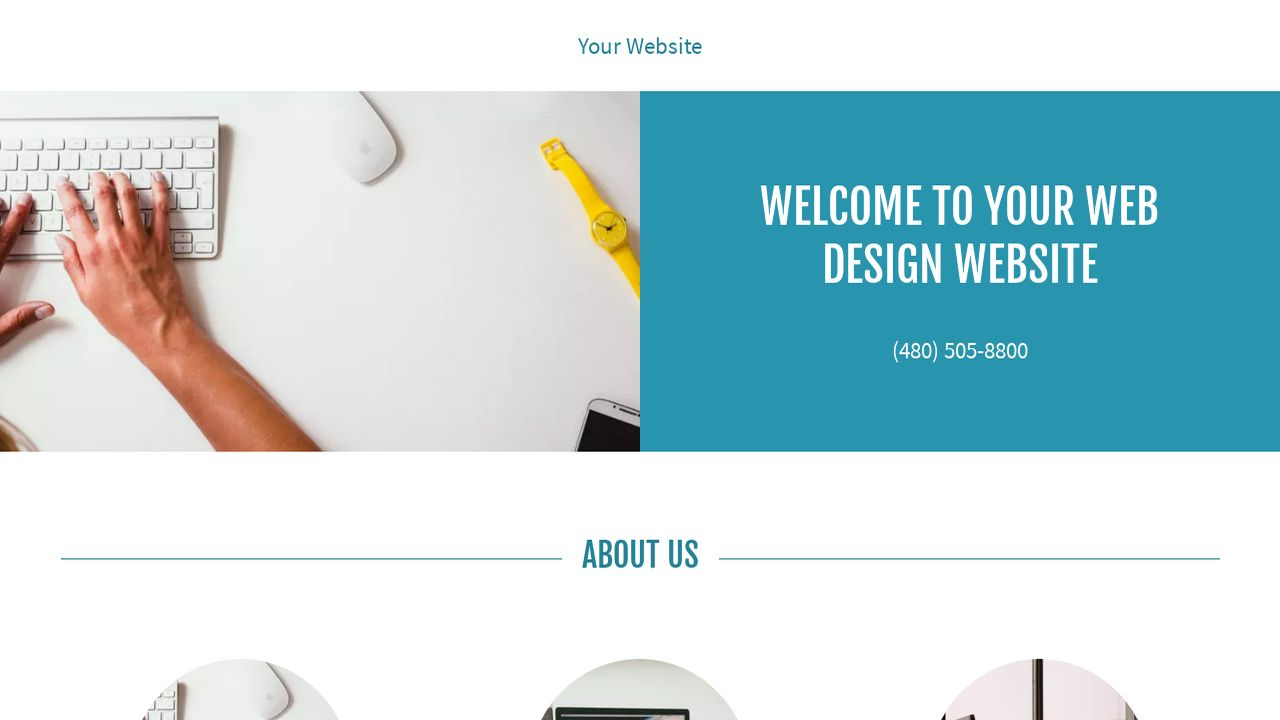 Web Design Website: Example 5