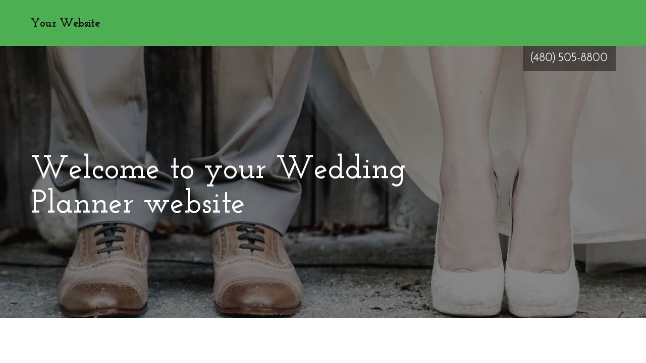 Wedding Planner Website: Example 13