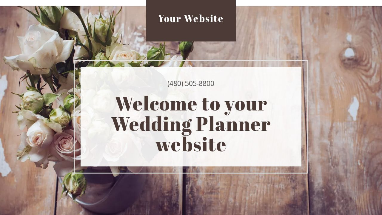 Wedding Planner Website: Example 2