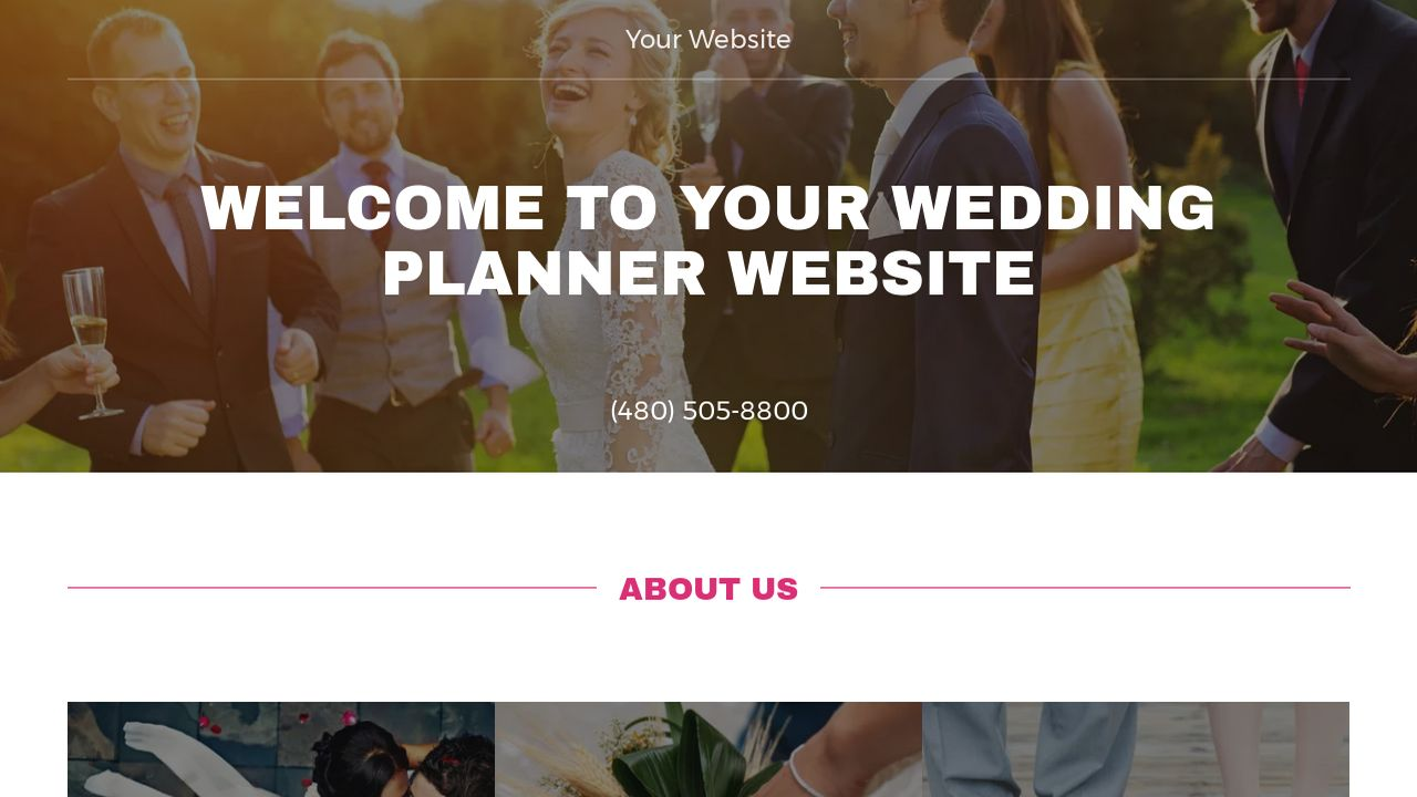 Wedding Planner Website: Example 3