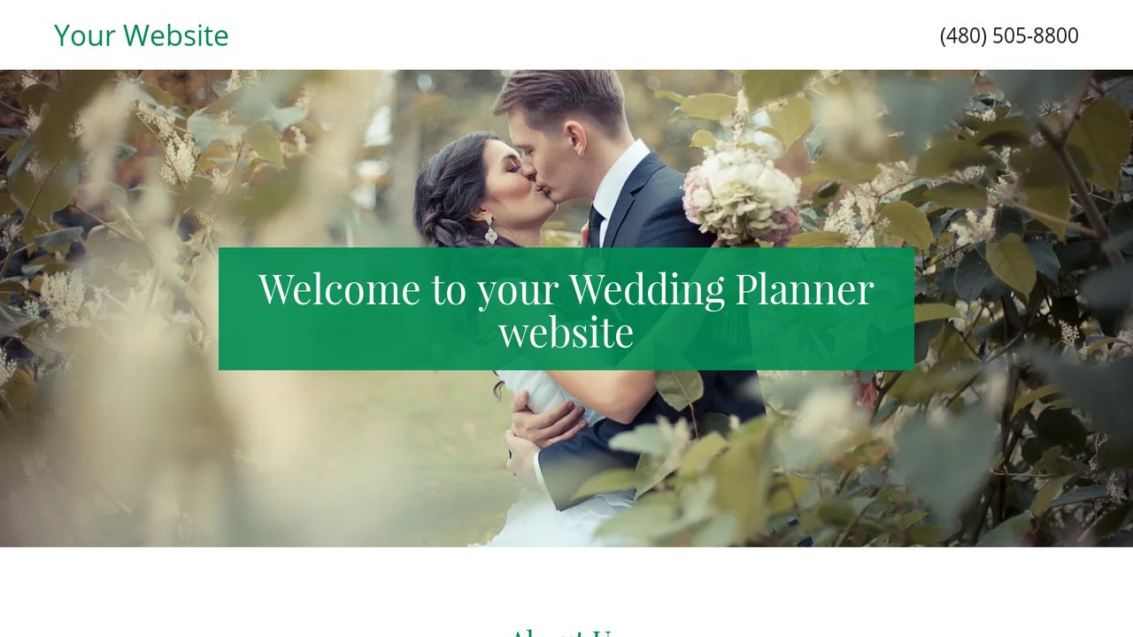 Wedding Planner Website: Example 4