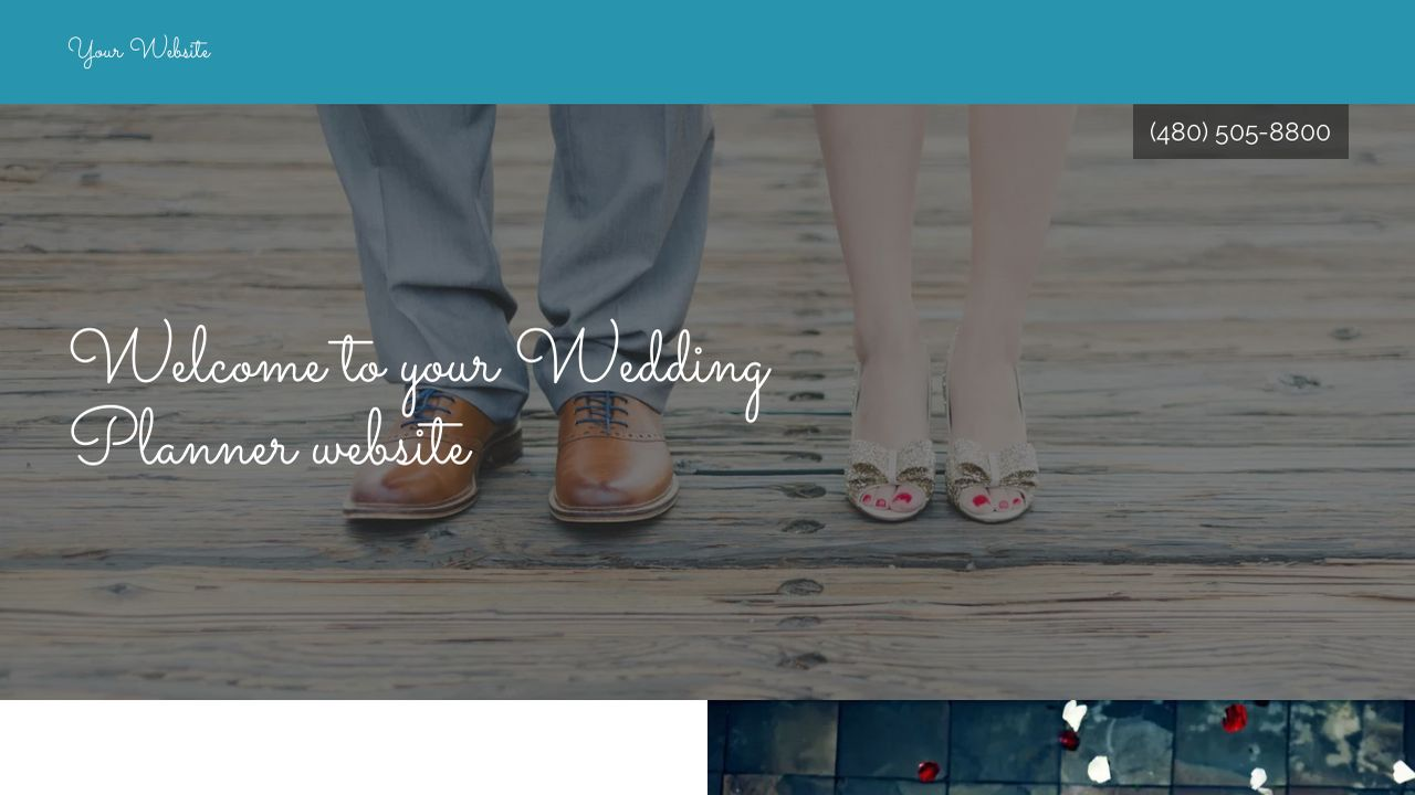 Wedding Planner Website: Example 6
