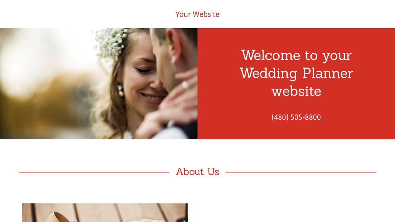 Wedding Planner Website: Example 7
