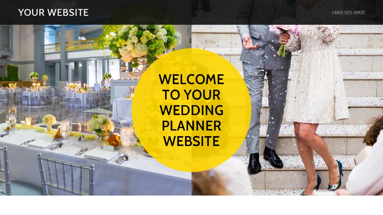 Wedding Planner Website: Example 8