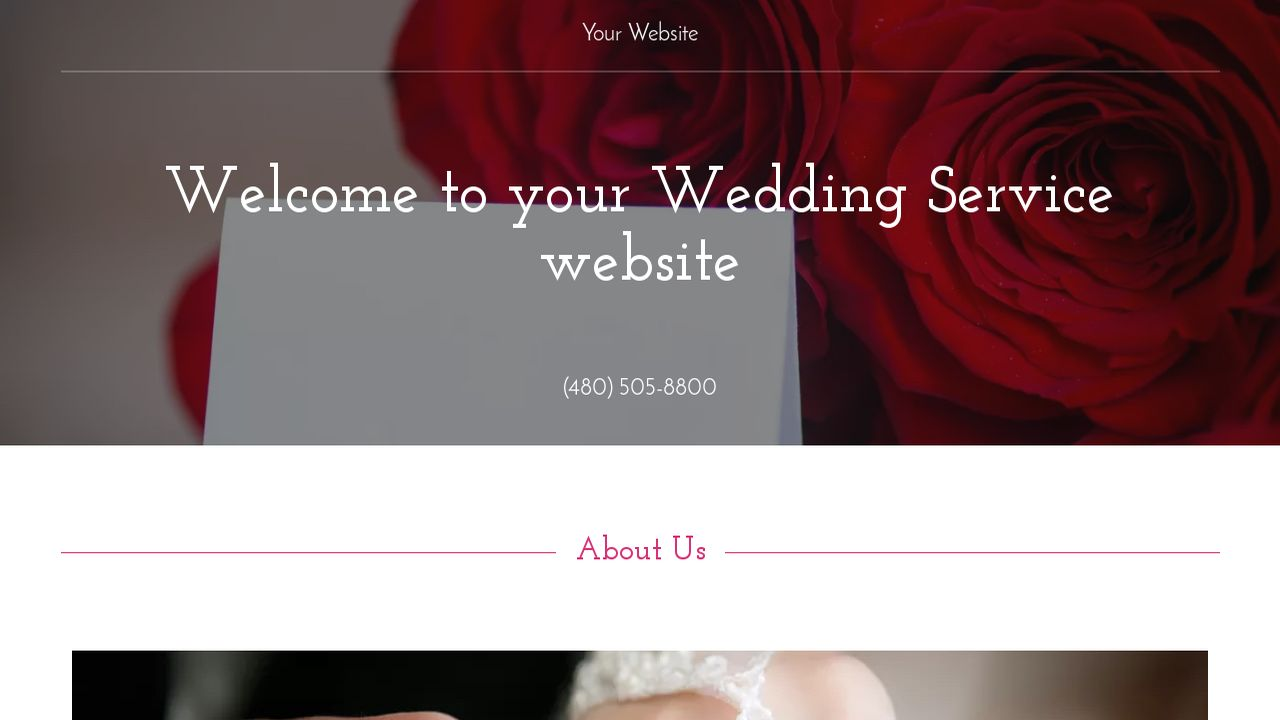 Wedding Service Website: Example 1