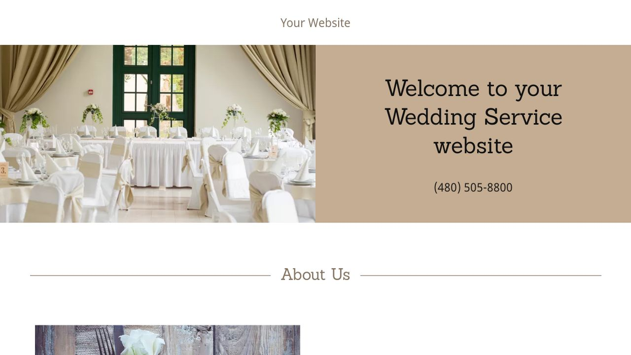 Wedding Service Website: Example 10