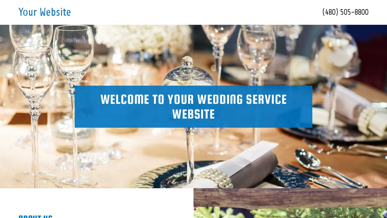 Wedding Service Website: Example 14