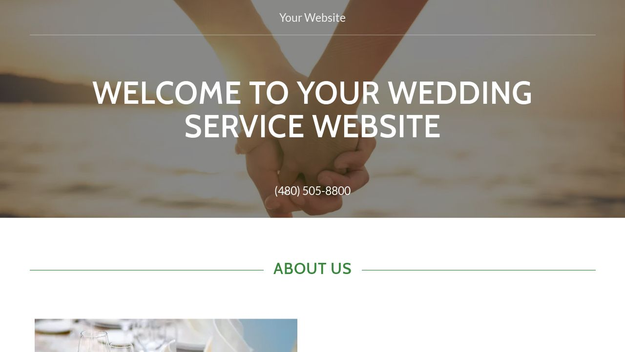 Wedding Service Website: Example 15