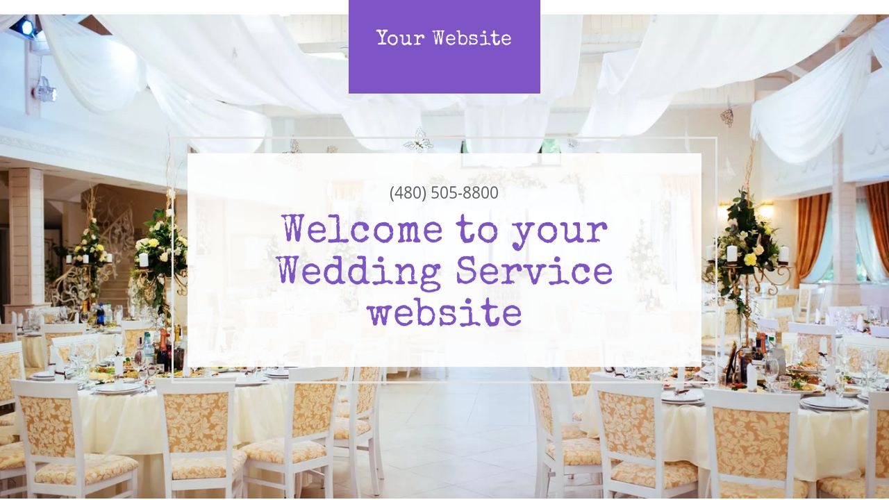 Wedding Service Website: Example 16