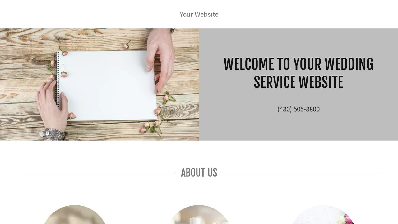 Wedding Service Website: Example 17
