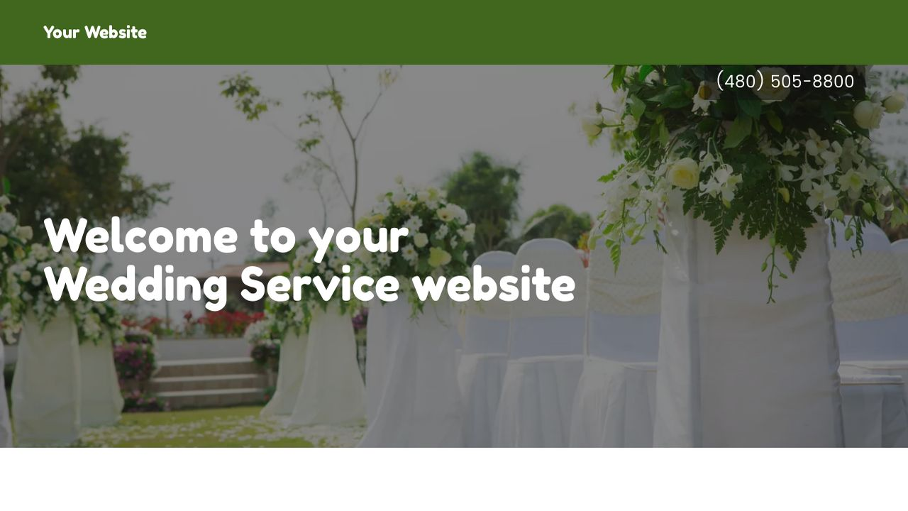 Wedding Service Website: Example 18