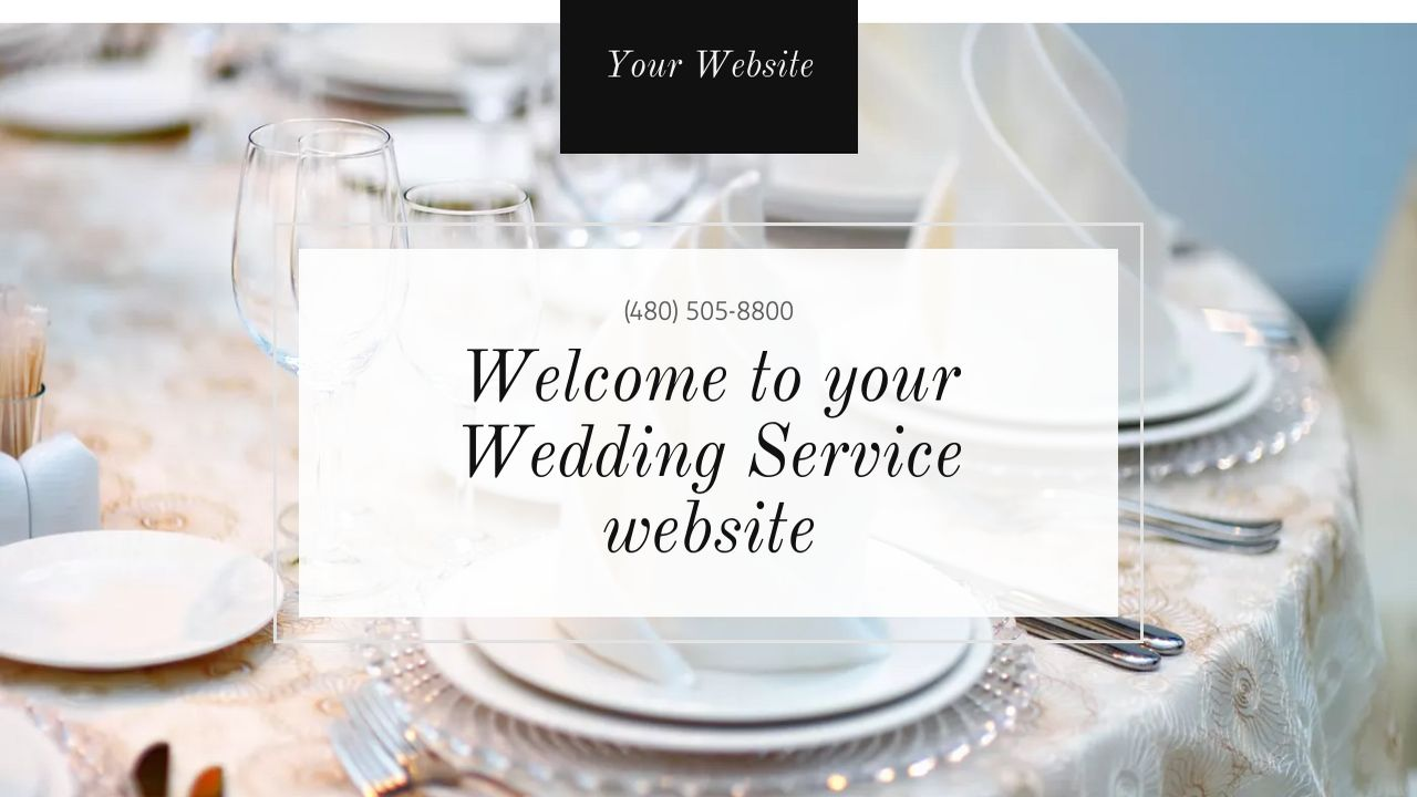 Wedding Service Website: Example 2