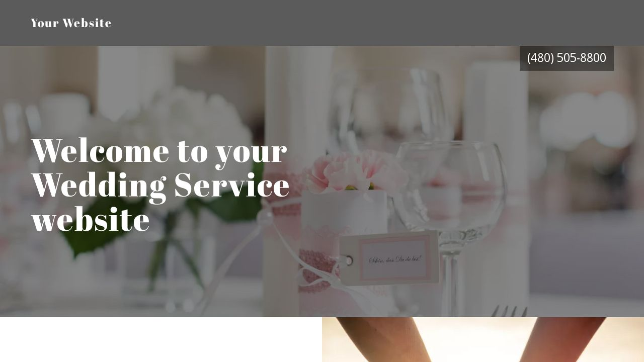 Wedding Service Website: Example 4