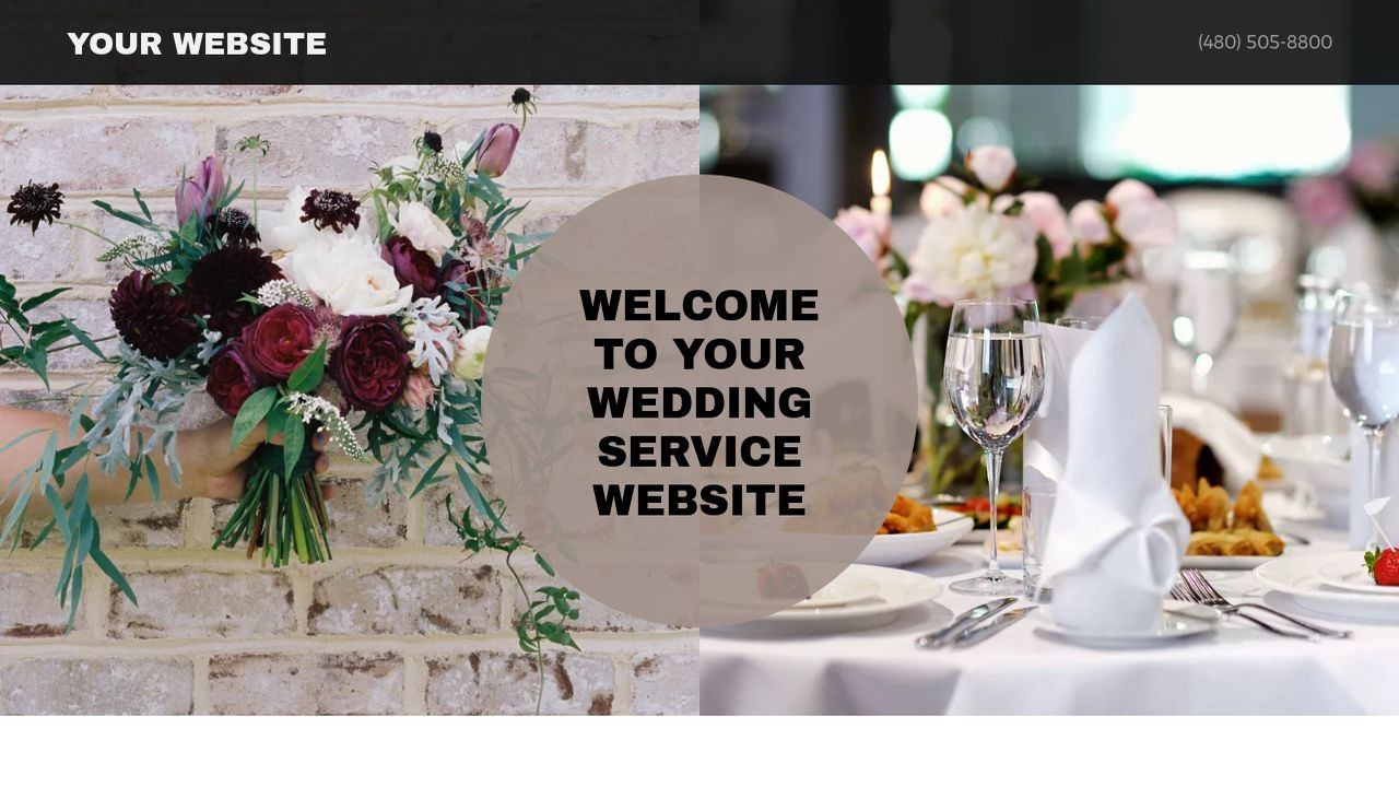 Wedding Service Website: Example 5