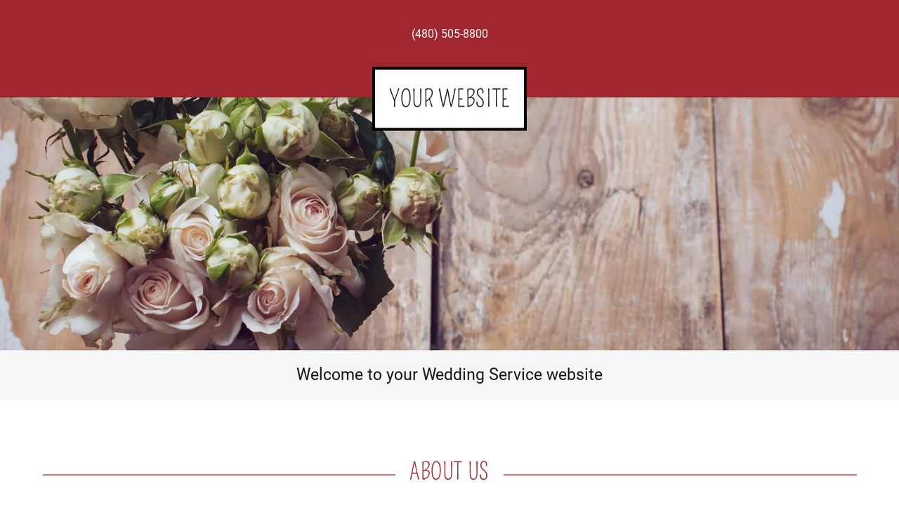 Wedding Service Website: Example 6