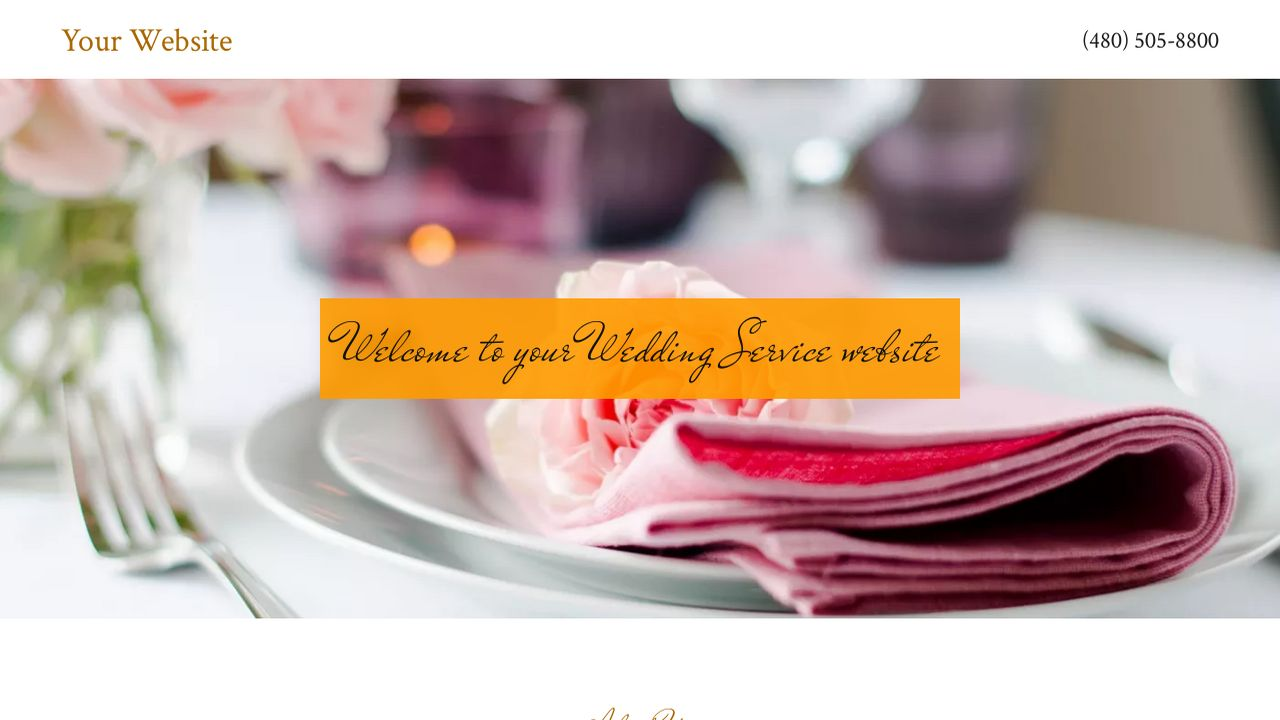 Wedding Service Website: Example 7