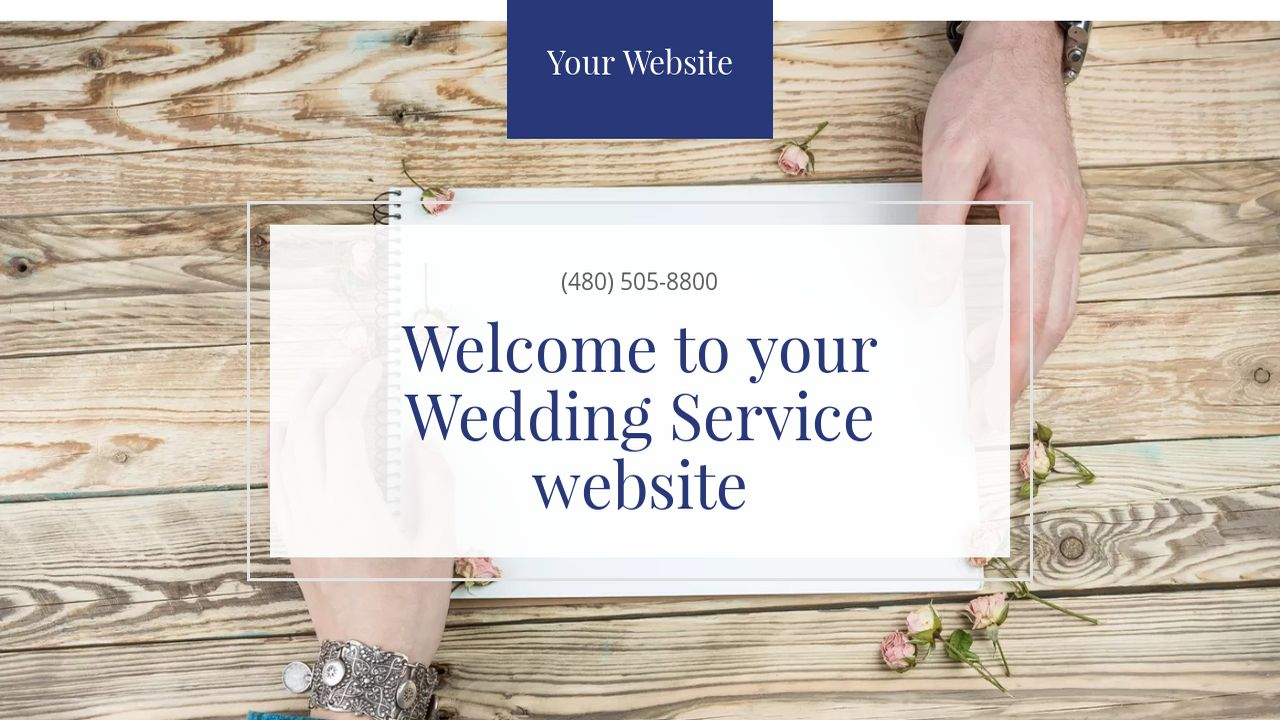 Wedding Service Website: Example 9