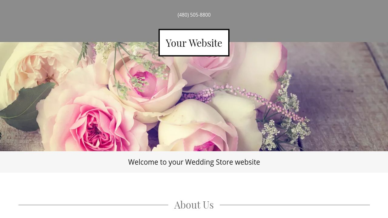 Wedding Store Website: Example 1
