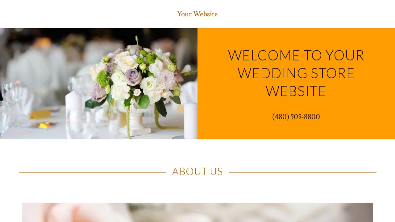 Wedding Store Website: Example 13