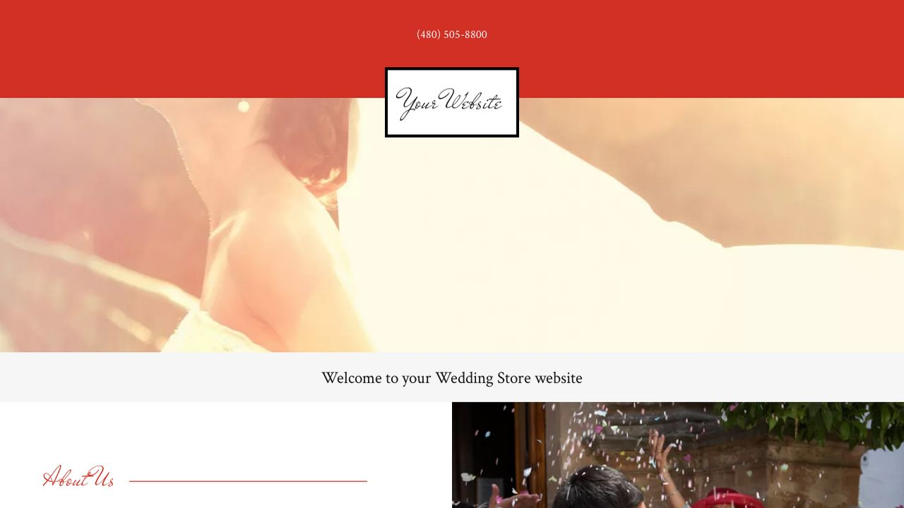 Wedding Store Website: Example 15
