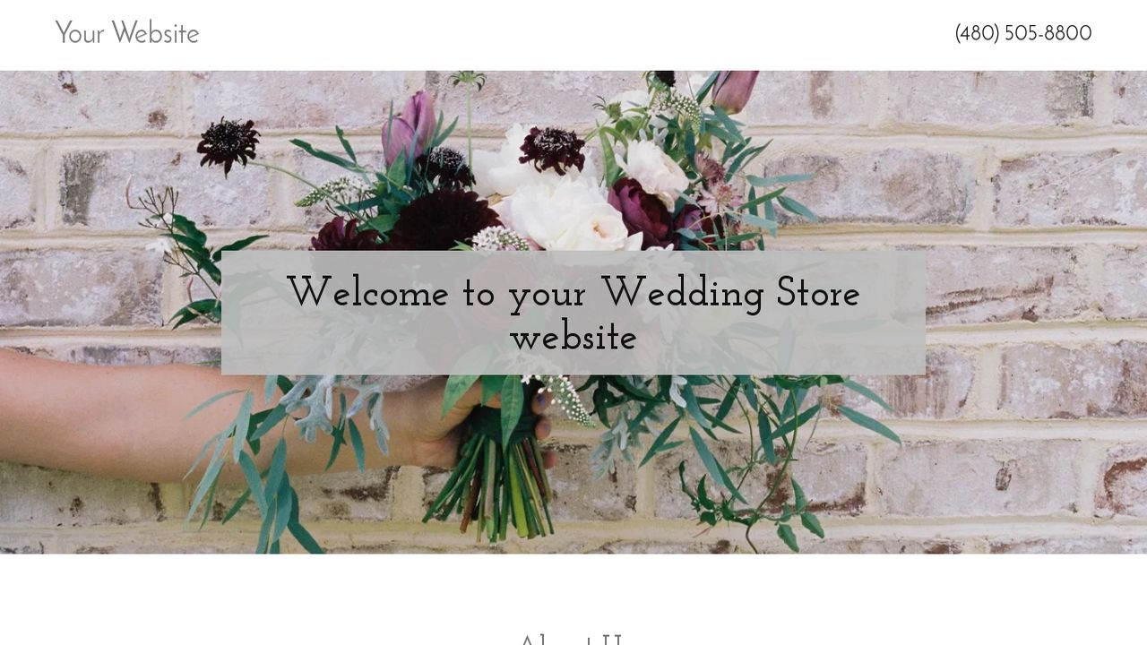 Wedding Store Website: Example 17