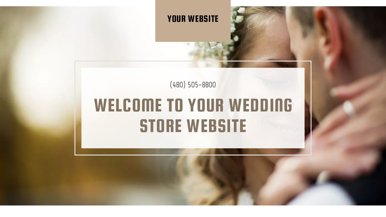 Wedding Store Website: Example 2